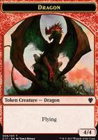Commander 2017: Dragon Token (Kovacs) - Gold Token