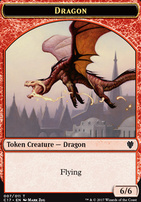 Commander 2017: Dragon Token (Zug) - Gold Token