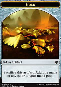 Commander 2017: Cat Dragon Token - Gold Token