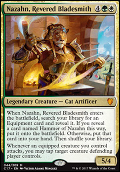 Commander 2017: Nazahn, Revered Bladesmith (Foil)