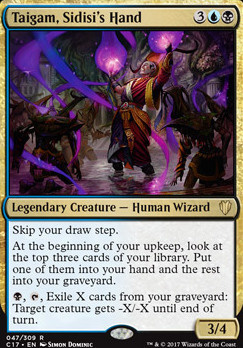 Commander 2017: Taigam, Sidisi's Hand