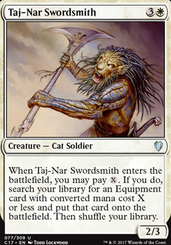 Commander 2017: Taj-Nar Swordsmith