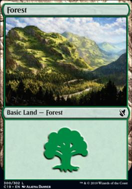 Commander 2019: Forest (300 A)