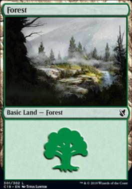 Commander 2019: Forest (301 B)