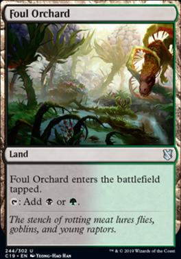 Commander 2019: Foul Orchard