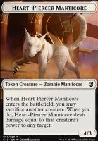 Commander 2019: Heart-Piercer Manticore Token - Dragon Token