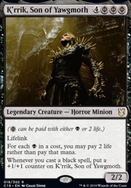 Commander 2019: K'rrik, Son of Yawgmoth
