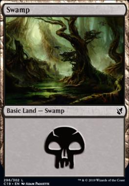Commander 2019: Swamp (296 C)
