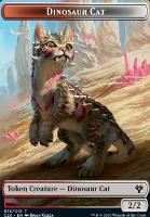 Commander 2020: Dinosaur Cat Token // Bird Token