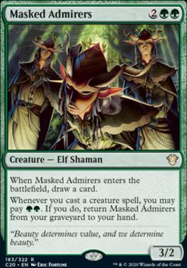 Commander 2020: Masked Admirers