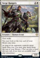 Commander 2020: Verge Rangers