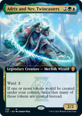 Commander 2021 Variants: Adrix and Nev, Twincasters (Extended Art)