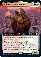 Commander 2021 Variants: Alibou, Ancient Witness (Extended Art)