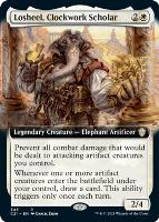 Commander 2021 Variants: Losheel, Clockwork Scholar (Extended Art)
