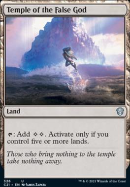 Commander 2021: Temple of the False God