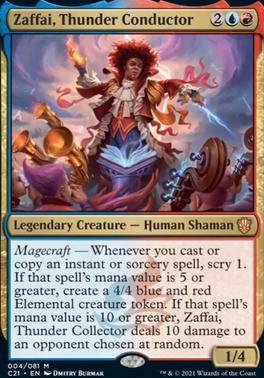 Commander 2021: Zaffai, Thunder Conductor (Foil)