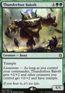 Commander Anthology: Thunderfoot Baloth