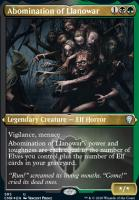 Commander Legends Variants: Abomination of Llanowar (Foil-Etched)