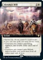 Commander Legends Variants Foil: Akroma's Will (Extended Art)