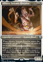 Commander Legends Variants: Alharu, Solemn Ritualist (Foil-Etched)