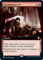 Commander Legends Variants Foil: Blasphemous Act (Extended Art)
