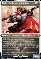 Commander Legends Variants: Livio, Oathsworn Sentinel (Foil-Etched)