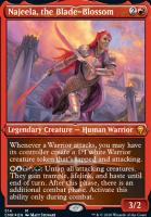 Commander Legends Variants: Najeela, the Blade-Blossom (Foil-Etched)