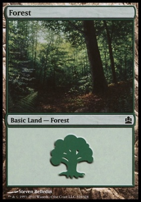 Commander: Forest (316 B)