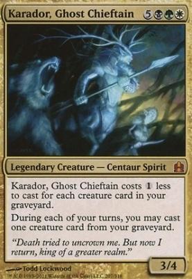 Commander: Karador, Ghost Chieftain