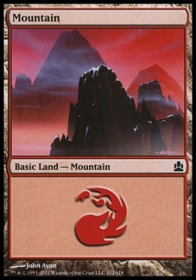 Commander: Mountain (312 B)