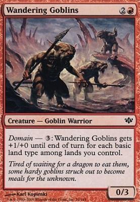Conflux Foil: Wandering Goblins
