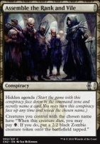 Conspiracy - Take the Crown Foil: Assemble the Rank and Vile
