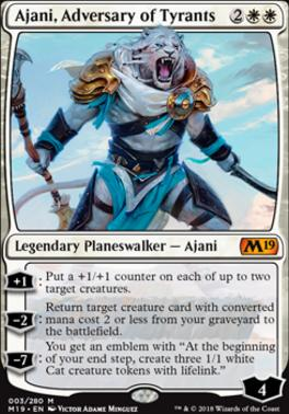 Core Set 2019 Foil: Ajani, Adversary of Tyrants