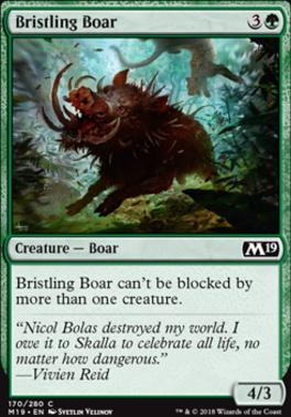 Core Set 2019 Foil: Bristling Boar