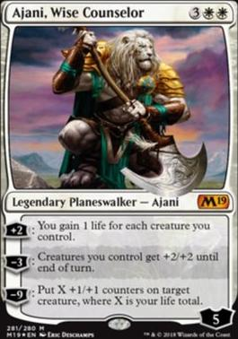 Core Set 2019: Ajani, Wise Counselor (Foil - Planeswalker Deck)