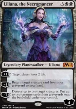 Core Set 2019: Liliana, the Necromancer (Foil - Planeswalker Deck)