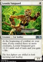 Core Set 2019 Foil: Leonin Vanguard
