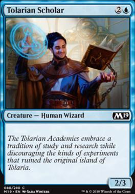 Core Set 2019 Foil: Tolarian Scholar