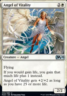 Core Set 2020 Foil: Angel of Vitality