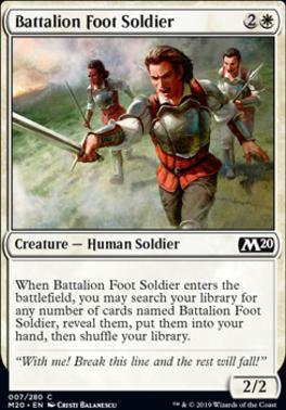 Core Set 2020 Foil: Battalion Foot Soldier