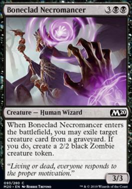 Core Set 2020 Foil: Boneclad Necromancer