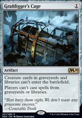 Core Set 2020 Foil: Grafdigger's Cage