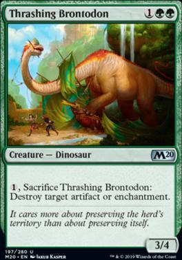 Core Set 2020: Thrashing Brontodon