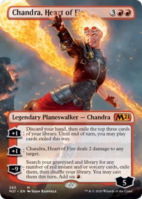 Core Set 2021 Variants: Chandra, Heart of Fire (Borderless)