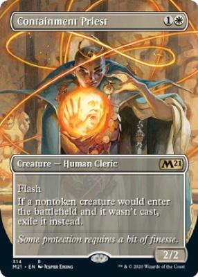 Core Set 2021 Variants: Containment Priest (Borderless)