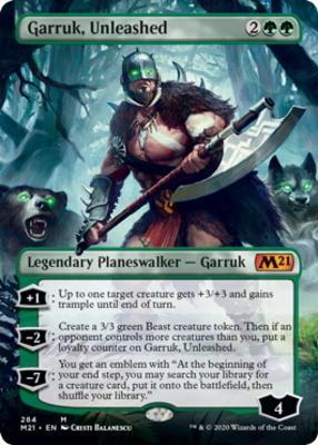 Core Set 2021 Variants: Garruk, Unleashed (Borderless)