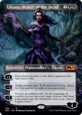 Core Set 2021 Variants: Liliana, Waker of the Dead (Borderless)
