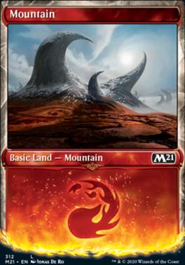 Core Set 2021 Variants: Mountain (Showcase)