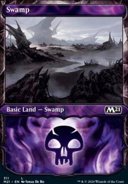 Core Set 2021 Variants: Swamp (Showcase)