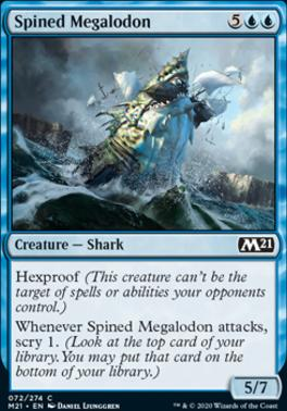 Core Set 2021 Foil: Spined Megalodon